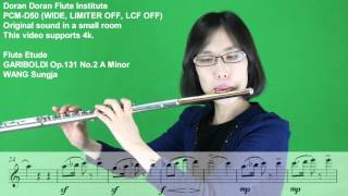 GARIBOLDI  가리볼디 Op.131 No.2 A Minor - WANG Sung Ja 왕성자 - Flute Etude 플룻 에뛰드 - 도란도란 부산 레슨 앙상블 동호회 학원