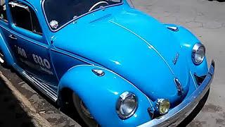 Fusquinha colorido, raríssimo carro do passado. Fuschinha colorful, very rare car of the past
