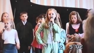 Monika Linkyte vaikystėje