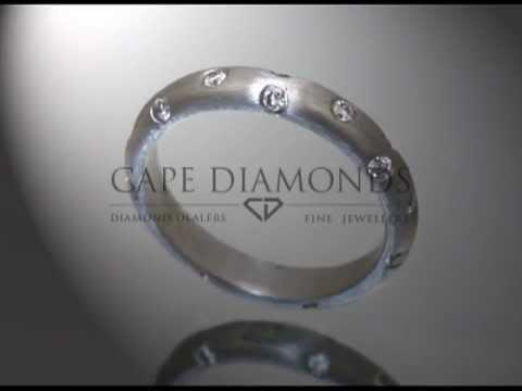 Eternity ring,small round diamonds,matt platinum,engagement ring