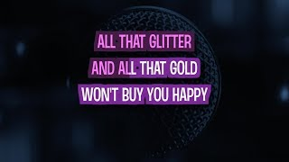 Glitter and Gold Karaoke Version by Rebecca Ferguson (Video with Lyrics)