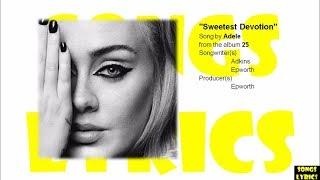 Sweetest Devotion (Adele) Lyrics