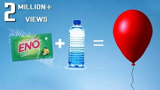 Water + Eno With Balloon | Science Experiment With Eno | 360 DIY