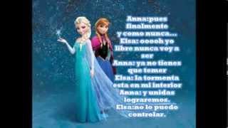 Finalmente y Como Nunca Anna y Elsa dueto a voces con Letra
