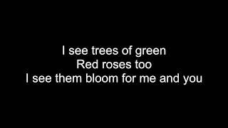 What A Wonderful World - HD With Lyrics! By: Chris Landmark