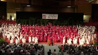 Seniors Perform Awesome Song and Dance Mashup during Graduation Ceremony