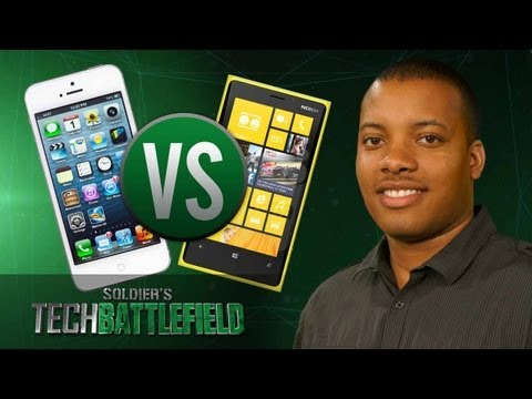 iPhone 5 vs Nokia Lumia 920 - Soldier's Tech Battlefield