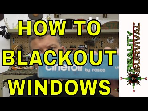 Cool Product To Black Out Windows If You Bug In!