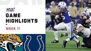 Jaguars vs. Colts Week 11 Highlights   NFL 2019