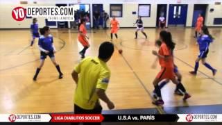 USA golea a Paris 14-0 en Liga Diablitos Soccer en Chicago