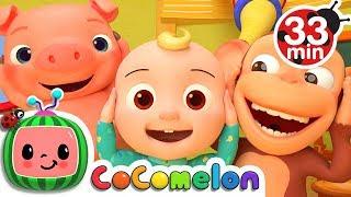 Head Shoulders Knees and Toes   +More Nursery Rhymes & Kids Songs - CoCoMelon
