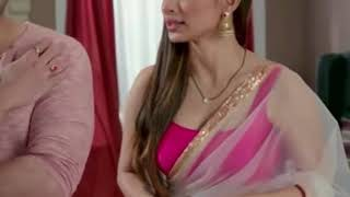 Mouni Roy super navel & thin transparent sleeveless blouse