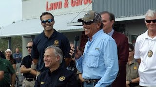 Gov. Abbott, George Strait visit Rockport