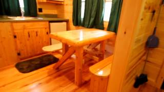 Medium Cabins with Bathrooms at Mackinaw Mill Creek Camping - YouTube