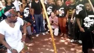 Briga na roda de capoeira