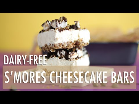 Dairy-Free No-Bake S'mores Cheesecake Bars | Healthy Dessert Recipes