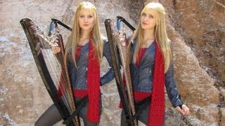 DOCTOR WHO Theme - Harp Twins - Camille and Kennerly