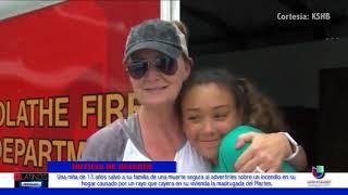 Una niña de 13 años salvó a su familia al alertarlos de un incendio