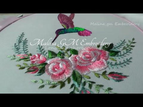 Long and short Stitches | Beautiful Bouquet of Roses | Needlework