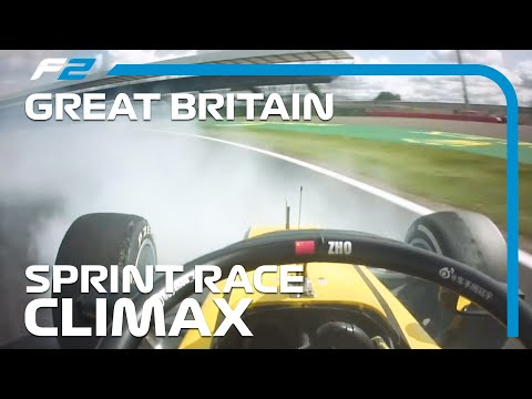 F2 EXCLUSIVE: Crazy Sprint Race Finish! | 2020 British Grand Prix