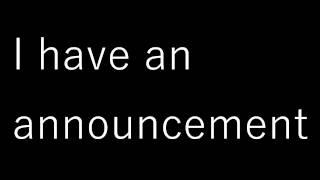Announcement/Voice reveal :)