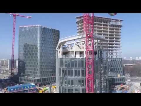 Bavaria Towers München - Baufortschritt im März 2018