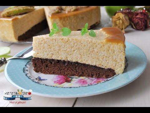 Tort cu blat de cacao si mousse de mere verzi