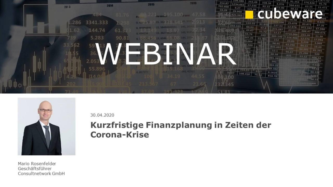 Cubeware Partner-Webinar: Kurzfristige Finanzplanung in Zeiten der Corona-Krise