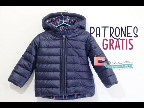Patrones gratis de costura para niños: chaqueta acolchada de invierno