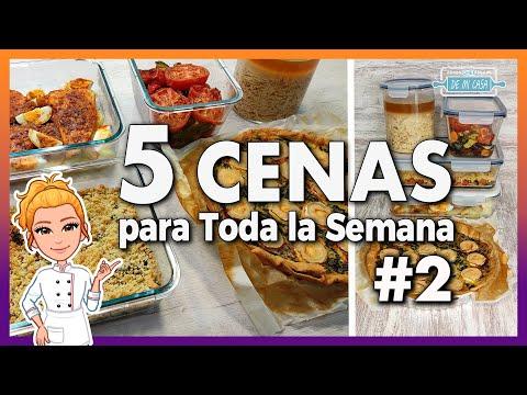 ? 5 CENAS RÁPIDAS, FÁCILES y ECONÓMICAS  para Toda la Semana #2 ? ? Meal Prep - Batch Cooking Cenas