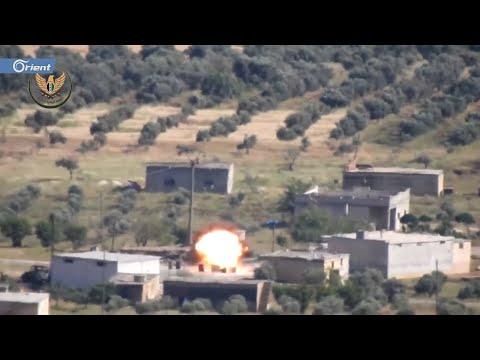 تدمير عربة BMB لميليشيا أسد على مفرق المستريحة بريف حماة