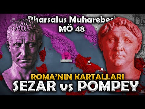 JÜL SEZAR'IN YÜKSELİŞİ || Roma İç Savaşı || MÖ 48 Pharsalus Muharebesi