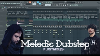 Melodic Dubstep Playthrough | Virtual Riot/Seven Lions Chords | FL Studio 12