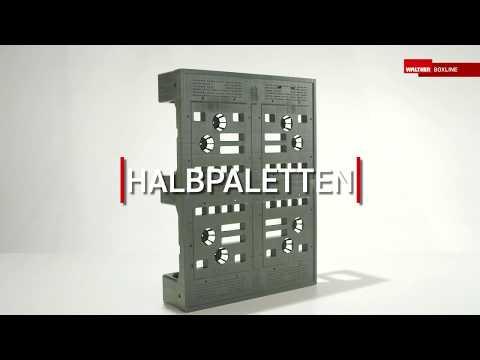 Kunststoff-Halbpaletten von WALTHER Faltsysteme