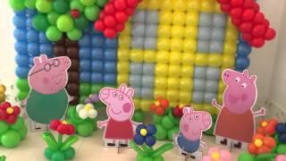 Decoração de Balões Peppa Pig