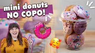 MINI DONUTS no COPO - perfeito para DELIVERY! | Tábata Romero
