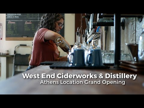 West End Ciderworks and Distillery had its grand opening Nov. 16.  Video by Nicholas Langer Editing by Nicholas Langer  Visit our website: https://www.thepostathens.com/  Find us on social media: Instagram: https://www.instagram.com/thepostathens/ Twitter: https://twitter.com/ThePost Facebook: https://www.facebook.com/ThePostAthens Visit our website: https://www.thepostathens.com/