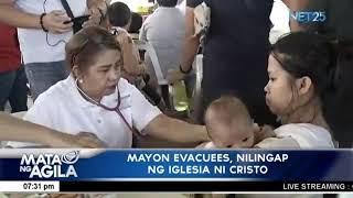 Mayon Evacuees, nilingap ng Iglesia Ni Cristo
