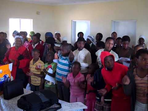 Kids singing at orphanage in S. Africa