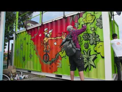 JACE paints the Sun Diner's Viewing Deck - Langa Quarter