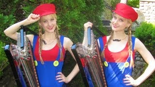 MARIO Medley - Harp Twins - Camille and Kennerly