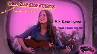 """Live music HDTV Inhouse concerts--Mia Rose Lynne: """"That Wouldn't Be Me"""""""