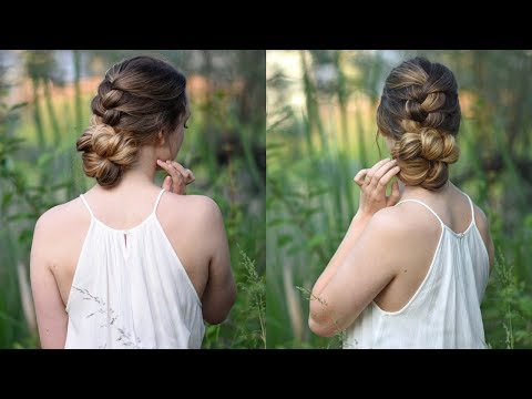 Knotted Braid Updo | Homecoming Hair | Cute Girls Hairstyles