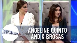 K Brosas and Angeline tell the story of how they met | TWBA