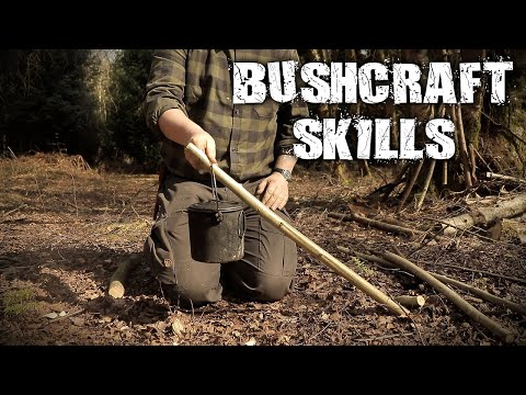 Bushcraft Skills - Camp Craft, Knife Skills, Pot Hangers (Overnight Camping)