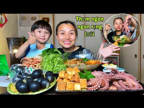 Thạch nho Kyoho,bún riêu,bạch tuộc, đậu hủ rán chấm mắm tôm & cái kết #932