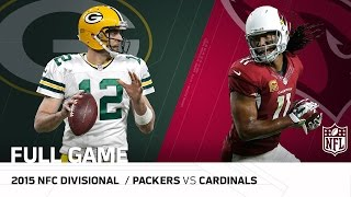 """2015 NFC Divisional Round: Packers vs. Cardinals   """"Fitzgerald's Legendary Day""""   NFL Full Game"""