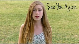 """See You Again"" -  Wiz Khalifa Ft Charlie Puth Cover by Samantha Potter"