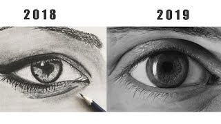 Drawing Hyperrealistic Eye, Pencil Drawing Timelapse
