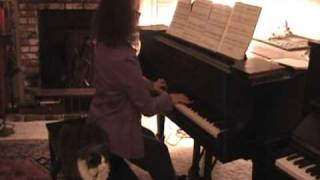 Chopin Waltz no. 19 in A minor, Op. Posth. Shirley Kirsten, Piano with Aiden the Cat